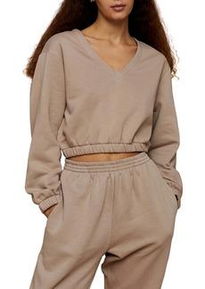 Topshop Crop Sweatshirt (Regular & Petite)