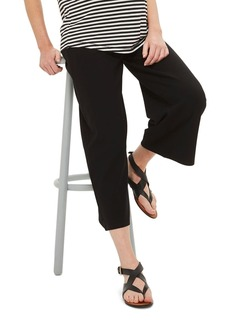 Topshop Crop Wide Leg Ponte Maternity Trousers