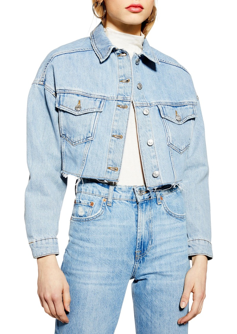 40b42026405c6 Topshop Topshop Cropped Denim Jacket | Denim