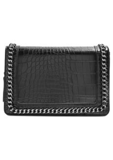 Topshop Cruz Chain Trim Faux Leather Crossbody Bag