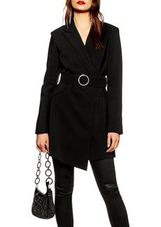 Topshop Crystal Buckle Blazer Dress