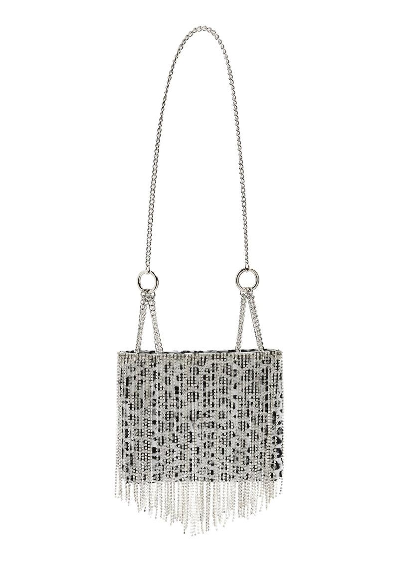 Topshop Crystal Embellished Leopard Print Shoulder Bag