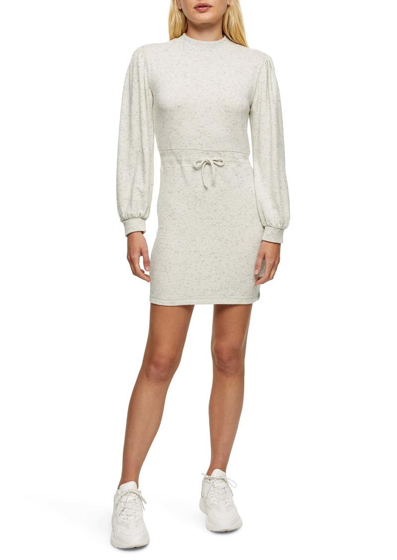 Topshop Cut & Sew Mini Sweatshirt Dress