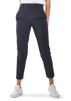 Topshop Cut About Pinstripe Cigarette Trousers