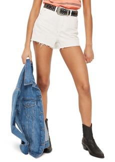 Topshop Cutoff Denim Mom Shorts