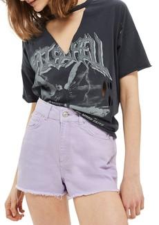 Topshop Cutoff Denim Shorts