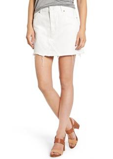 Topshop Cutoff Denim Skirt