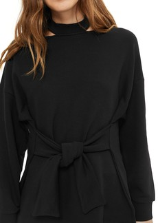 Topshop Cutout Belted Sweater