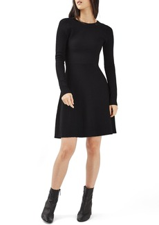 Topshop Cutout Fit & Flare Dress