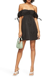 Topshop Cutout Puff Minidress