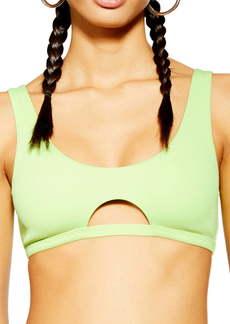 Topshop Cutout Rib Bikini Top