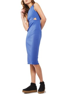 Topshop Cutout Ribbed Body-Con Dress