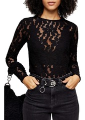 Topshop Daisy Lace Top