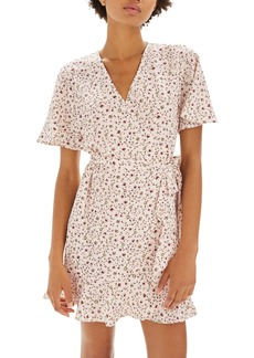 Topshop Daisy Ruffle Wrap Tea Dress