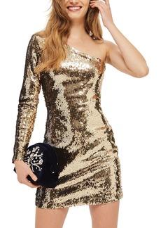 Topshop Dazzling Sequin One-Shoulder Minidress