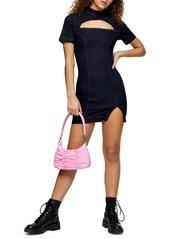 Topshop Denim Cutout Body-Con Dress