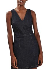 Topshop Denim Fit & Flare Dress