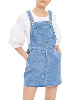 Topshop Denim Pinafore Style Dress