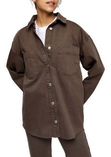 Topshop Denim Shirt Jacket