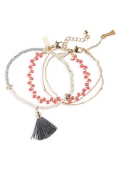 Topshop Desert Blush Set of 3 Bracelets