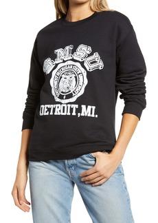 Topshop Detroit College Sweatshirt