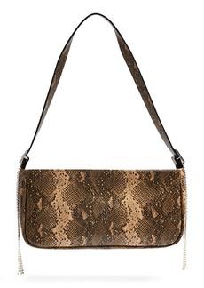 Topshop Diamante Faux Leather Shoulder Bag