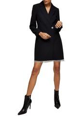 Topshop Diamante Trim Long Sleeve Blazer Minidress
