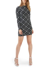 Topshop Diamond Mock Neck Body-Con Dress