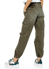 Topshop Distressed Cuffed Utility Cargo Pants