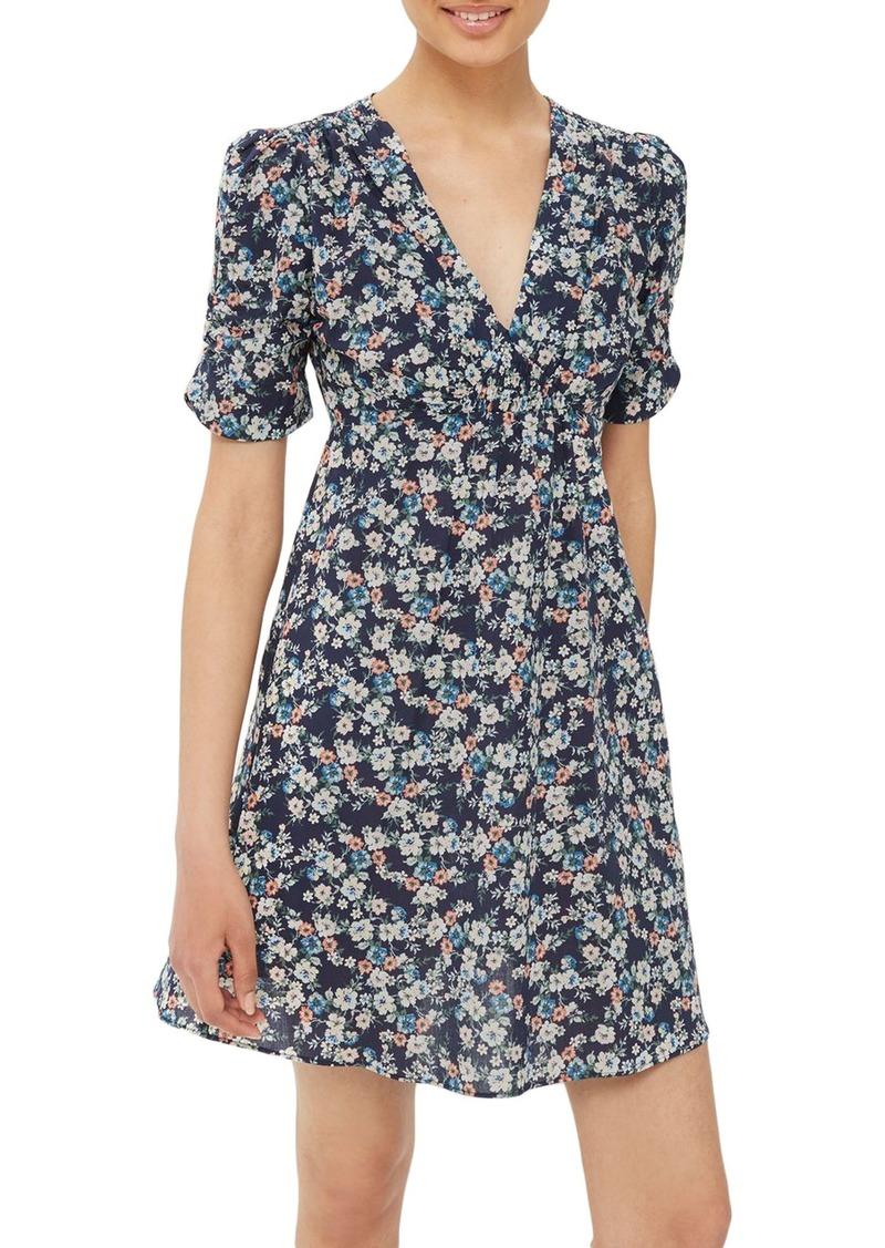 size 7 wide varieties good Topshop Topshop Ditsy Floral Poplin Tea Dress | Dresses