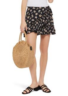 Topshop Ditsy Frill Miniskirt