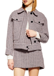 Topshop Dixie Textured Bouclé Jacket