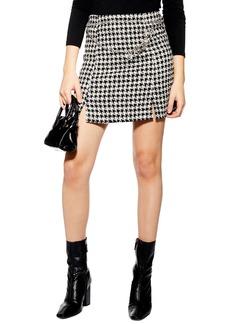 Topshop Dogtooth Charm Belt Miniskirt