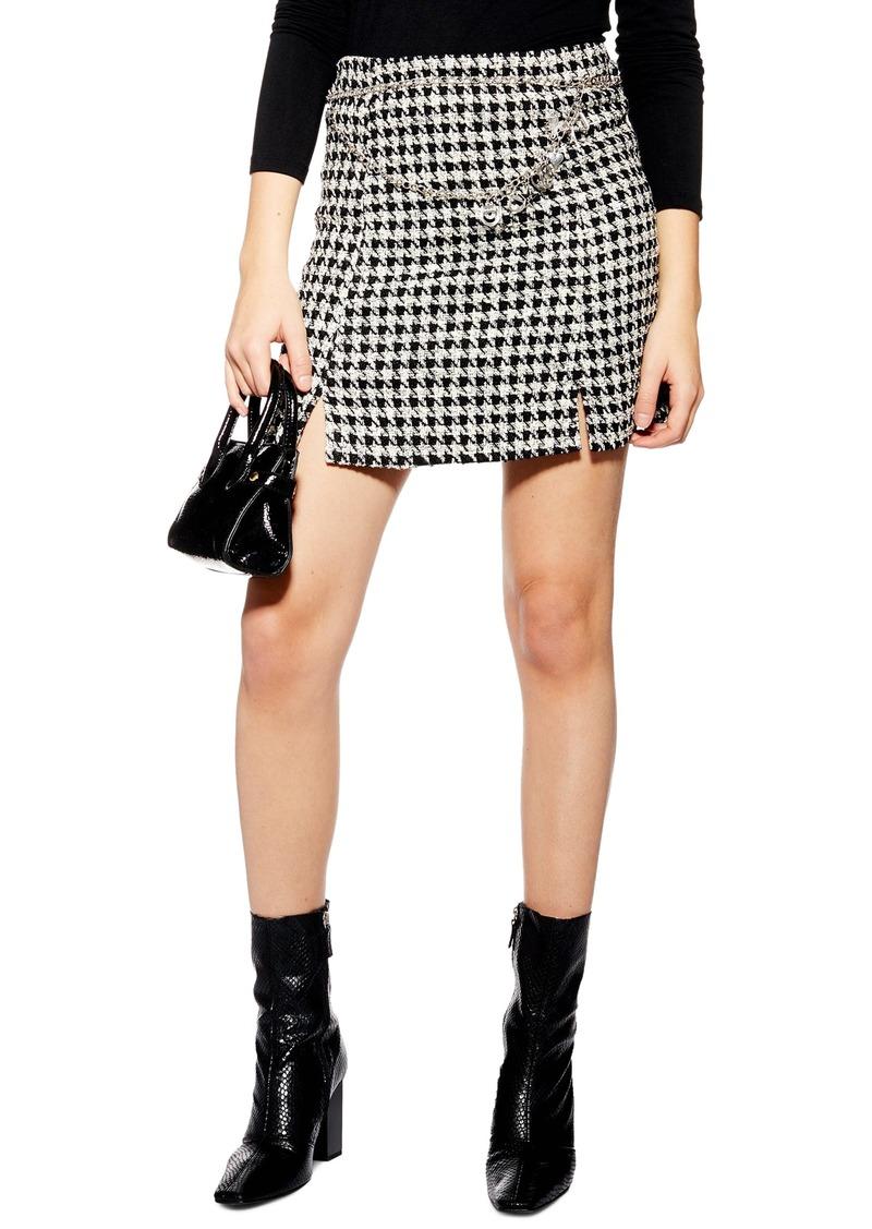 54f99d4565 Topshop Topshop Dogtooth Charm Belt Miniskirt | Skirts