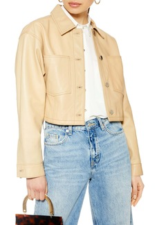 Topshop Doll Western Cropped Leather Jacket