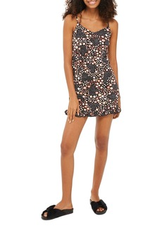 Topshop Dot Floral Strappy Minidress