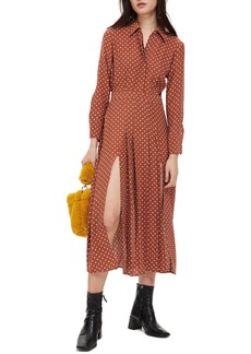 Topshop Dot Print Dress