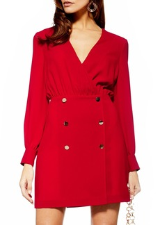 Topshop Double Breasted Blazer Minidress