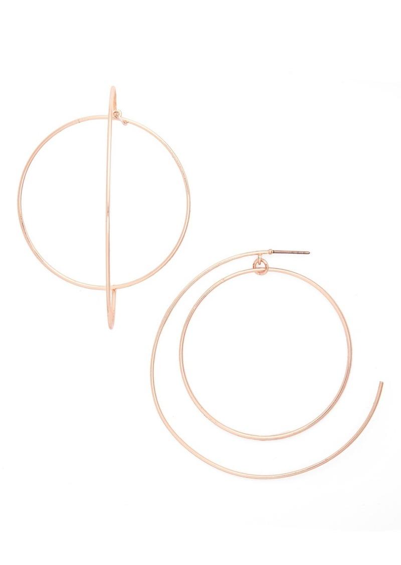 Topshop Double Hoop Earrings