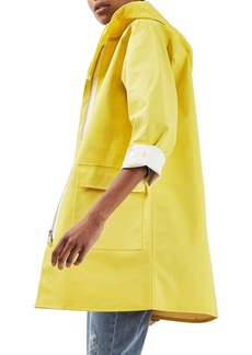 Topshop Drake Hooded Rain Jacket