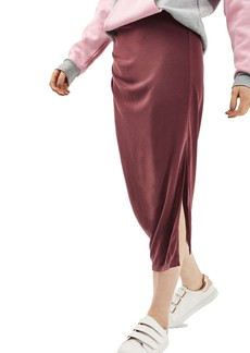 Topshop Drape Midi Skirt