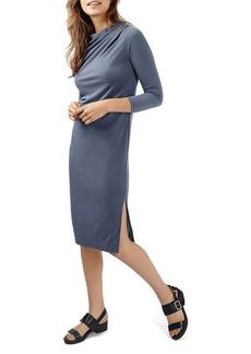 Topshop Drape Neck Midi Dress