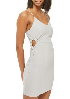 Topshop Drawstring Cutout Body-Con Dress