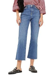 Topshop Dree Crop Flare Jeans