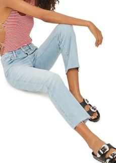 Topshop Dree Crop Kick Flare Jeans
