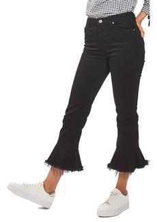 Topshop Dree Raw Hem Crop Flare Jeans