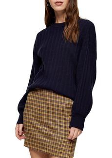 Topshop Drop Armhole Crew Sweater
