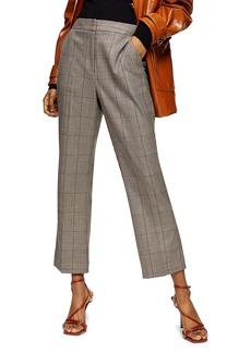 Topshop Ella Check Flare Trousers