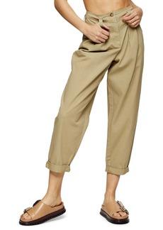 Topshop Ella Tapered Crop Trousers
