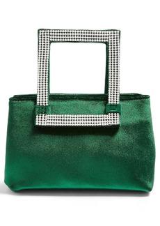 Topshop Elle Velvet Diamante Handle Bag
